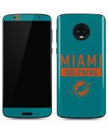 Miami Dolphins Teal Performance Series Moto G6 Skin