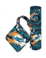 Miami Dolphins Tropical Print Amazon Fire TV Skin