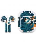 Miami Dolphins Tropical Print Apple AirPods 2 Skin
