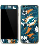Miami Dolphins Tropical Print iPhone 6/6s Skin