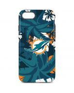 Miami Dolphins Tropical Print iPhone 8 Pro Case
