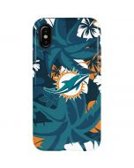 Miami Dolphins Tropical Print iPhone X Pro Case