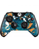 Miami Dolphins Tropical Print Xbox One Controller Skin