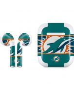 Miami Dolphins Zone Block Apple AirPods 2 Skin