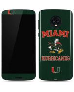 Miami Hurricanes Distressed Moto G6 Skin