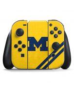 Michigan Large Logo Nintendo Switch Joy Con Controller Skin