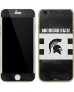 Michigan State University Black and White Stripes iPhone 6/6s Skin