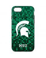 Michigan State Spartans Digital Pixels iPhone 8 Pro Case