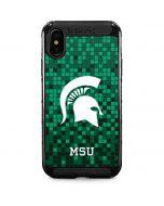 Michigan State Spartans Digital Pixels iPhone XS Max Cargo Case