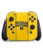 Michigan Wolverines Nintendo Switch Joy Con Controller Skin