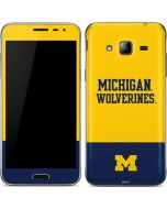 Michigan Wolverines Split Galaxy J3 Skin