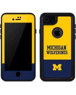 Michigan Wolverines Split iPhone 8 Waterproof Case