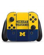 Michigan Wolverines Split Nintendo Switch Joy Con Controller Skin