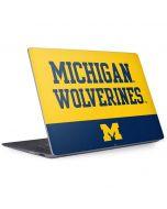 Michigan Wolverines Split Surface Laptop 2 Skin