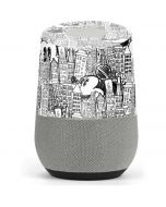 Mickey Mouse Cityscape Sketch Google Home Skin