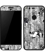 Mickey Mouse Cityscape Sketch Google Pixel Skin