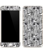 Mickey Mouse Cityscape Sketch iPhone 6/6s Plus Skin