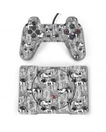 Mickey Mouse Cityscape Sketch PlayStation Classic Bundle Skin