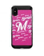Milwaukee Brewers - Pink Cap Logo Blast iPhone XS Max Cargo Case