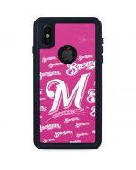 Milwaukee Brewers - Pink Cap Logo Blast iPhone XS Waterproof Case
