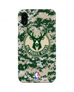 Milwaukee Bucks Camo Digi iPhone XR Lite Case
