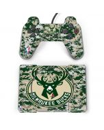 Milwaukee Bucks Camo Digi PlayStation Classic Bundle Skin