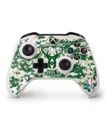 Milwaukee Bucks Camo Digi Xbox One S Controller Skin