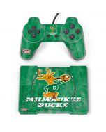 Milwaukee Bucks Hardwood Classics PlayStation Classic Bundle Skin