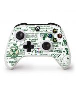 Milwaukee Bucks Historic Blast New Xbox One S Controller Skin
