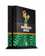 Milwaukee Bucks Retro Palms PS4 Console Skin