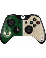 Milwaukee Bucks Split Canvas Xbox One Controller Skin