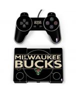 Milwaukee Bucks Standard - Black PlayStation Classic Bundle Skin