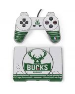 Milwaukee Bucks Static PlayStation Classic Bundle Skin