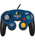 Minnesota Timberwolves Distressed Nintendo GameCube Controller Skin