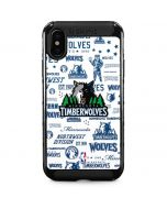 Minnesota Timberwolves Historic Blast iPhone XS Max Cargo Case