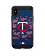 Minnesota Twins - Cap Logo Blast iPhone XS Max Cargo Case