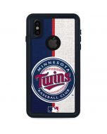Minnesota Twins Split iPhone XS Waterproof Case