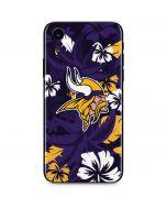 Minnesota Vikings Tropical Print iPhone XR Skin