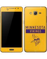 Minnesota Vikings Yellow Performance Series Galaxy Grand Prime Skin