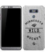 Minnesota Wild Black Text LG G6 Skin