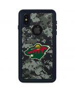 Minnesota Wild Camo iPhone X Waterproof Case