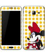 Minnie Mouse Yellow Dots Galaxy J3 Skin