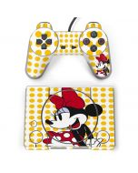 Minnie Mouse Yellow Dots PlayStation Classic Bundle Skin