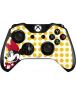 Minnie Mouse Yellow Dots Xbox One Controller Skin