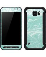 Mint Marbling Galaxy S6 Active Skin