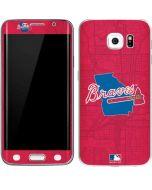 Atlanta Braves Home Turf Galaxy S6 Edge Skin