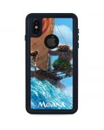 Moana and Maui Ride the Wave iPhone XS Waterproof Case