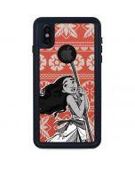 Moana Tropical Print iPhone XS Waterproof Case