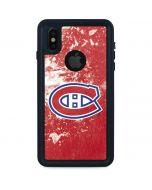 Montreal Canadiens Frozen iPhone X Waterproof Case
