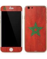 Morocco Flag Distressed iPhone 6/6s Skin